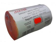 Cenové etikety, 22x12 mm, METO, červené