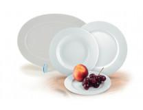 """Hlboký tanier, porcelán, 22cm, 6 ks, ROTBERG, """"Basic"""", biely"""