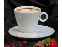"Cappuccino šálka + podšálka, 220 ml, biela, ""CoffeeTime"""