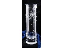 "Váza, sklenená, 19,5 cm, LORENTINA,  ""Made with Swarovski elements"""