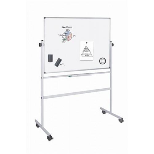 Otáčateľná tabuľa, magnetická, obojstranná, 100x200 cm, VICTORIA