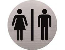 Informačná tabuľa, nerezová oceľ, HELIT, toalety