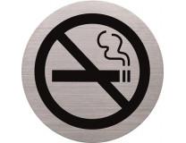 Informačná tabuľa, nerezová oceľ, HELIT, zákaz fajčiť