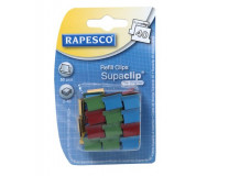 "Klip na dokumenty, RAPESCO, ""Supaclip40"", mix farieb"