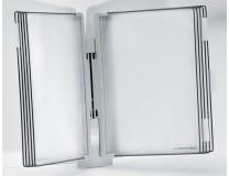 """Držiak na prezetačné tabule, nástenný, 10 ks prezentačných tabuľ, TARIFOLD """"Design"""", sivý"""