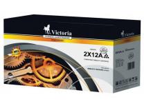 12Ax2  Toner do tlačiarní LaserJet 1010, 1012, 1015, VICTORIA čierna, 2x4k
