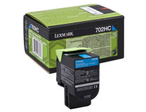 70C20C0 toner do tlačiarne CS310/410/510, LEXMARK, modrý, 3k (return)