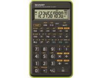 """Kalkulačka, vedecká, 146 funkcií, SHARP """"EL-501TBGR"""", zelená"""