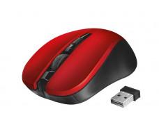 """Myš, bezdrôtová, optická, USB, TRUST """"Mydo"""", červená"""