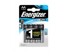 """Batéria, AA, tužková, 4 ks, ENERGIZER """"Max Plus"""""""
