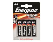 "Batérie, AA, tužková, 4 ks, ENERGIZER ""Alkaline Power"""