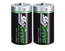 """Batéria, D, veľkokapacitná, 2 ks, SKY, """"Green"""""""