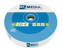 CD-R disk, 700MB, 52x, 10 ks, zmršťovacie balenie , MYMEDIA