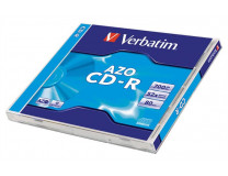 """CD-R 700 MB, AZO, 80min, 52x, Crystal, v štandardnom obale, VERBATIM """"DataLife Plus"""""""