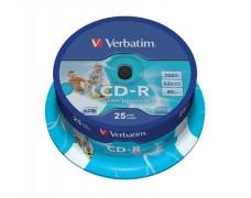 CD-R 700 MB, 52x, potlačiteľné., AZO, ID, cake box, VERBATIM