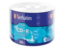 """CD-R disk, 700MB, 52x, zmršťovacie balenie, VERBATIM """"DataLife"""""""