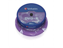 DVD+R 4,7 GB, 16x, cake box (AZO), VERBATIM
