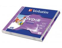 """DVD+R 4,7 GB, 16x, široko potlačiteľné, matné, """"ID"""", klasický obal"""