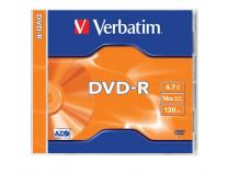 DVD-R 4,7 GB, 16x, v norm obale (AZO), VERBATIM