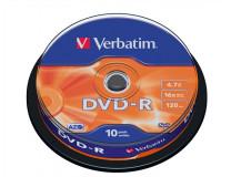 DVD-R 4,7 GB, 16x, cake box (AZO), VERBATIM