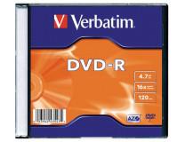 DVD-R 4,7 GB, 16x, tenký obal (AZO), VERBATIM