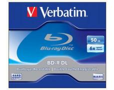 BD-R Blu-Ray dvojvrstvové 50 GB, 6x, štandardný obal, VERBATIM