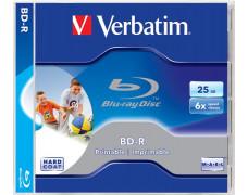 BD-R Blu-Ray SL 25GB 6x, potlačiteľný povrch, štandardný obal, VERBATIM