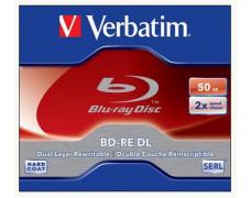 BD-RE Blu-Ray, dvojvrstvové, 50 GB, 2x, prepisovateľné, klasický obal, VERBATIM