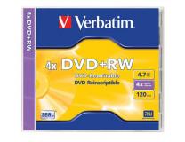 DVD+RW 4,7 GB, 4x, klasický obal, VERBATIM
