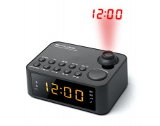 """Rádiobudík, s projekciou času na stenu, MUSE, """"M-178P"""", čierne"""