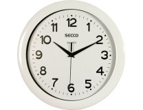 Nástenné hodiny, 28,5 cm, SECCO, biela