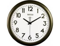Nástenné hodiny, 28,5 cm, SECCO, čierny rám