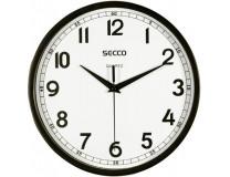 Nástenné hodiny, 24,5 cm,  SECCO, čierna