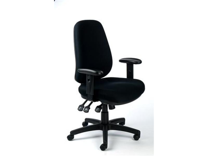 bd934e501ca20 Kancelárska stolička, opierky rúk, čalúnenie, čierny podstavec, MAYAH