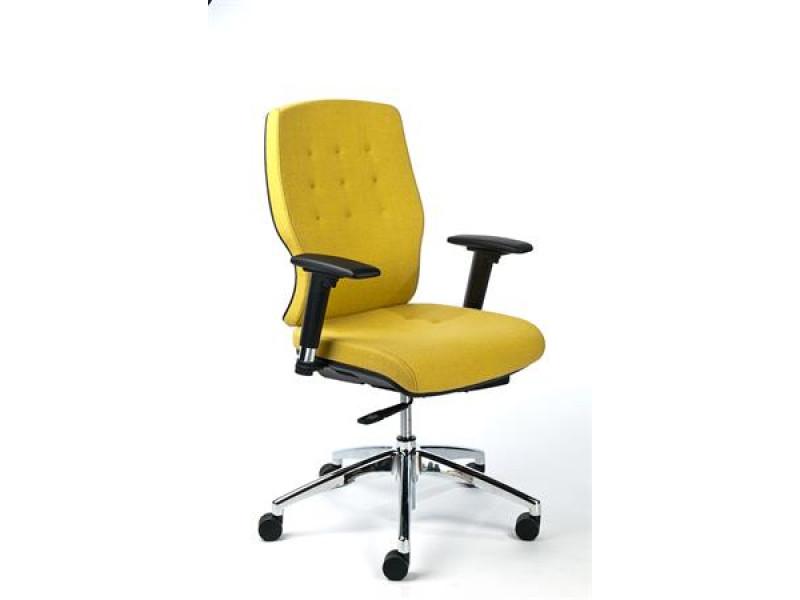7e3bc50dfbd45 Kancelárska stolička, nastaviteľné opierky rúk, čalúnená, hliníkový  podstavec, MAYAH