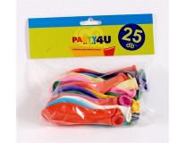Balón, 26 cm, mix farieb