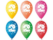 Balón, 26, cm, s číslami, 2
