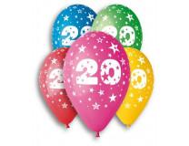 Balón, 26, cm, s číslami, 20