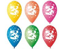 Balón, 26, cm, s číslami, 3