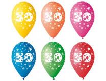 Ballón, 26 cm, s číslami, 30