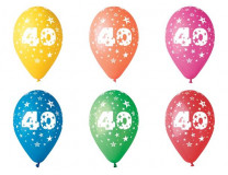 Balón, 26, cm, s číslami, 40