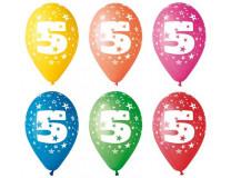Balón, 26, cm, s číslami, 5