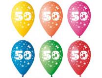 Balón, 26, cm, s číslami, 50