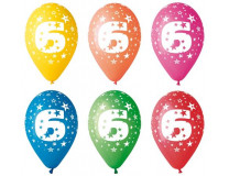 Balón, 26, cm, s číslami, 6