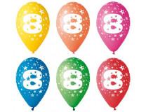 Balón, 26, cm, s číslami, 8