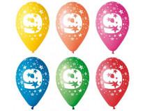 Balón, 26, cm, s číslami, 9