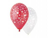 Balón, 30 cm, srdiečka