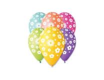Balón, 30 cm, kvetinky