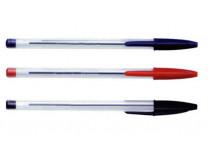 Guličkové pero, 0,7 mm, s uzáverom, VICTORIA, červené