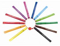 "Fixky 1 mm, STABILO ""Cappi"", 12 rôznych farieb"